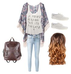 Teen fashion / outfit by madisenharris on Polyvore featuring Wet Seal, Frame Denim, Keds, Murati and Lipsy