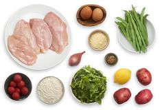 Pan-Fried Francese-Style Chicken with Arugula & Green Bean-Potato Salad…