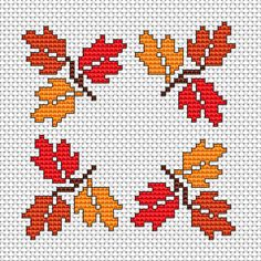 Autumn cross stitch pattern