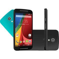 Smartphone Motorola Moto G (2ª Geração) Colors Dual Chip Android 5.0 Tela 5 8GB 3G Câmera 8MP - Preto