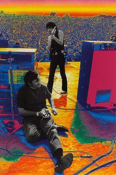 Carlos Santana & Bill Graham en Woodstock (1969)
