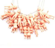 Little Lucia #Jewelry Incorporates Tiny Plastic Toys trendhunter.com