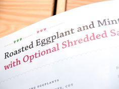 Ash Huang Cookbook Design, Roast Eggplant, Ash, Mint, Vegan, Gray, Vegans, Peppermint