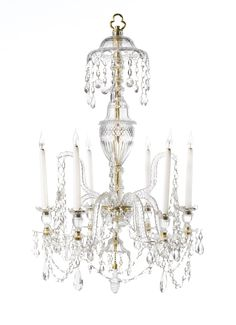 c1790 A George III cut-glass chandelier circa 1790 and later Estimate   6,000 — 10,000  GBP  LOT SOLD. 6,500 GBP (Hammer Price with Buyer's Premium)