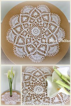 This Crochet Doily Pattern Medium Size Doily 15 Inches Table is just one of the custom, handmade pieces you'll find in our patterns & blueprints shops. Crochet Doily Patterns, Crochet Doilies, Diana Wedding, Lace Doilies, Crochet Home, Spring Day, Table Toppers, Google, Diy And Crafts