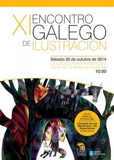 Este fin de semana estamos invitados al XI Encontro Galego de Ilustración. Compartiremos jornada con el ilustrador Ajubel y Nati Rodríguez de #iconi