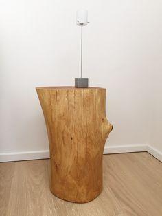 Selfmade Nightstand   Oak   woodwork   DIY   Nachttisch   Eiche   Massivholz   Baumstamm