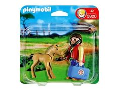 Playmobil 5820 Vet With Foal by Playmobil. Save 46 Off!. $5.95. 5.9 x 5.9 x 1.6 inches. 4 pieces