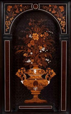 Charles Hunsinger (1823 - 1893) ,An Important Pair of Ebony, Ivory Inlaid and Marquetry Cabinets in the Louis XIII Manner Attributable to Charles Hunsinger