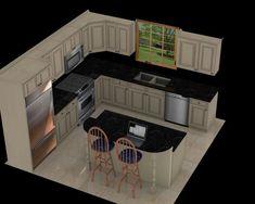 Luxury Small Kitchen Luxury Kitchen Layout With Island 51 For with . Layout Design, Küchen Design, Design Ideas, Interior Design, Living Room Kitchen, New Kitchen, Living Rooms, Kitchen Ideas, Kitchen Pantry