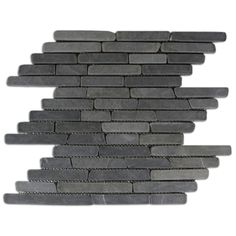 Order CNK Tile Pebble Tiles Grey Pencil Stone Mosaic Tile, delivered right to your door. Stone Mosaic Tile, Mosaic Glass, Ceramic Subway Tile, Ceramic Flooring, Parquet Flooring, Stone Flooring, Vinyl Flooring, Laminate Flooring, Engineered Stone