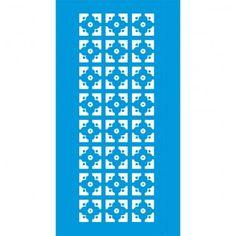 Stencil Opa 10x30 - Estampa Flor Geométrica OPA1081