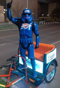 Have an epic adventure through #Bricktown the next time you're in #Oklahoma City with a ride from Thunder Up Pedicabs!