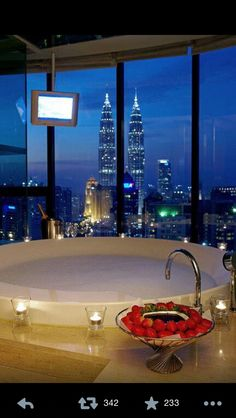 The perfect tub and view that I want for my future home