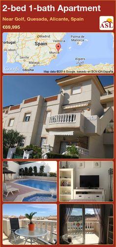 2-bed 1-bath Apartment in Near Golf, Quesada, Alicante, Spain ►€69,995 #PropertyForSaleInSpain