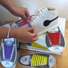 Cool colors for your iSHOES! Silicon laces are easy to change and wear.