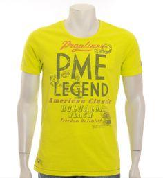 PME Legend - Pall Mall T-shirt in Geel - NummerZestien.eu