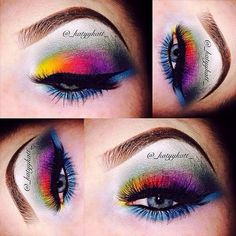 These wildly colorful eyes are gorgeously exotic and a fun way to wow with your makeup.