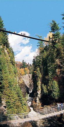 suspension bridges - Canyon Sainte-Anne