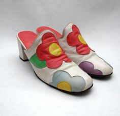 Mary Quant, 1960s.  I love these so much....but will only fit me if I cut off my toes.  Ain't happenin!!!!