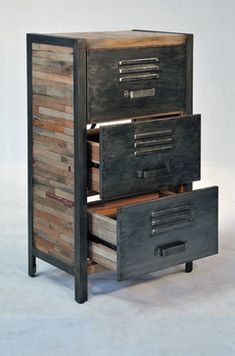 Industrial / Locker Room Style 3 Drawer, 2 Cabinet - industrial - dressers chests and bedroom armoires - boise - Impact Imports