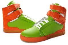 4842dbd9fcb9 www.suprafootwearoutletonline.info 2013-supra-tk-society-men-black-green- orange-white-leather-shoes-p-351.html 2013 Supra TK Society Men Black Green  Orange ...