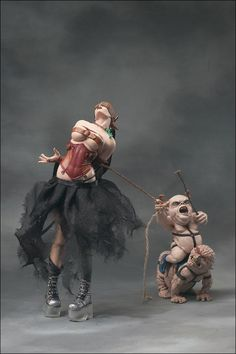 Dorthy and the Munchkins from the Twisted Wizard of Oz by Todd Mcfarlane