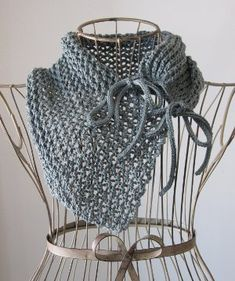With just one skein of cotton yarn, you can create a gorgeous, unique neck accessory with no blocking needed!