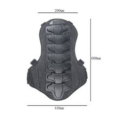 Wotefusi Motorcycle New Men Women Adult Race Racing Ride Riding Skiing Skate Skating Armor Back Spine Protector Guard Pads For BMX MX MOTO Sports Black