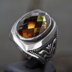 925 Sterling Silver Mens Ring with amazing color changing Diaspore unique item #Handmade #Solitaire