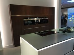 Wit greeploos met cherry hout Kitchen Appliances, Modern, Cooking Utensils, Home Appliances, House Appliances