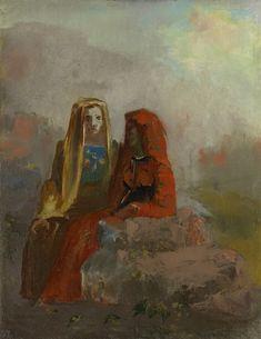 """""""The Fates"""" by Odilon Redon (ca. 1910)"""