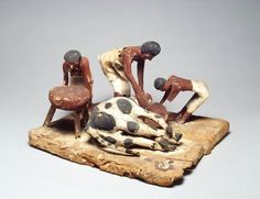 Model of a butcher's workshop from Beni Hasan, Egypt | 12th Dynasty, Middle Kingdom.