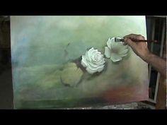 Pintando um quadro de rosas parte 2
