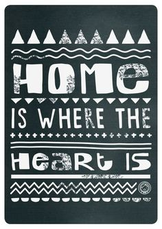 Free printable poster Home