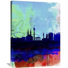 Naxart 'Vienna Watercolor Skyline' Painting Print on Wrapped Canvas Size: