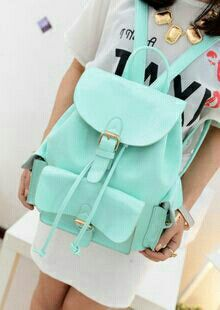 Sweet candy mint green backpack...