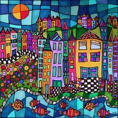Zentangle, Naive Art, Chalk Art, Art Classroom, Art Plastique, Elementary Art, Thing 1, Collage Art, Art Lessons