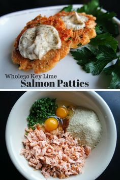 Delicious 6 ingredient Whole30 Key Lime Salmon Patties