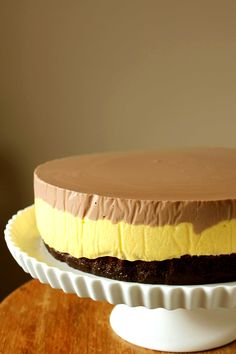 Chocolate Cake with Mango Mousse and Nutella Panna Cotta