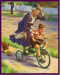l'enfant et sa grand mère intrépide ! Henry Hintermeister ....reépinglé par Maurie Daboux ❥•*`*•❥