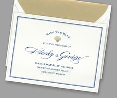 Kleinfeld Paper || Maritime Save-the-Date