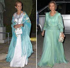 La infanta Elena se une a la fiesta por las bodas de oro de Constantino y Ana María de Grecia #royalty #realeza