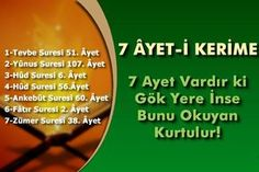 7 Ayet Vardır ki Gök Yere İnse Bunu Okuyan Kurtulur According to a rumor conveyed from Muaz bin Cebel; There are 7 verses in Qur'anic, and they have a number of secrets and wisdom. Some of his known secrets and wisdom: Bi Quotes About Rumors, Allah Islam, Sufi, Verses, Wisdom, Bargello, 10 Years, Muslim, Vintage Outfits