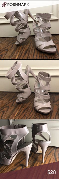 9f390c344 STEVE MADDEN  nude strapped sandal heels In excellent used condition. A  free marks here