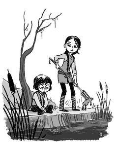 Couple little Crannogmen by Vera Brosgol