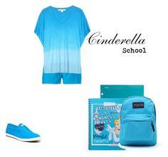 """Cinderella School"" by lunalynch13 on Polyvore featuring The North Face, Diane Von Furstenberg, Keds and JanSport"