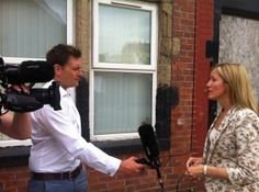 Gill Coupland, Empty Homes Doctor talking with Joe Inwood from BBC Look North