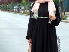 ♥♥ Marifetli Muallim ♥♥: BÜZGÜ ZAMANI : SİYAH BÜZGÜLÜ FERACE / SHIRRED TIME : BLACK SHIRRED DRESS
