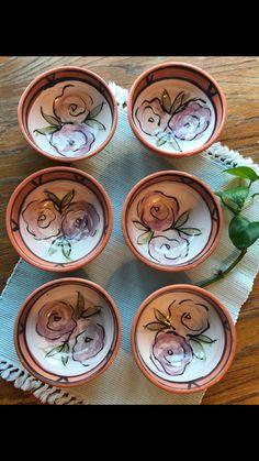 Hand painted ceramic bowls!   Etsy: saraherwinceramics